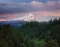 Mount Hood from Hood River Oregon Photograph