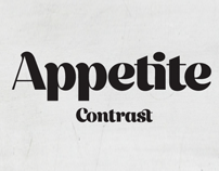Appetite Contrast. The Font