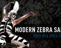 Modern Zebra Safari (Flyer, Poster &  Banner design)