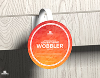 Free Advertising Wobbler Mockup