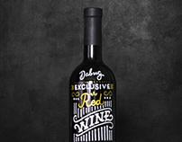 Леттеринг на бутылке / Lettering on the wine bottle