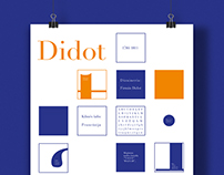 Analysis poster of Didot typeface