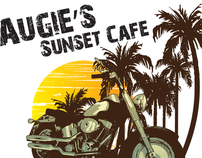Augie's Sunset Café Shirt Design