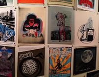 Screen printed poster art show at Museum of Art