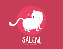 Salem, the Albino Cat