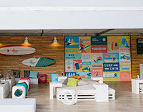 "Samsung ""Studio On The Beach"" Mural"
