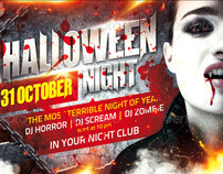 Halloween Night Flyer, PSD Template