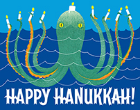 """Happy Hanukkah!"" greeting card"