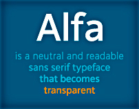 Tipografia Alfa (Alfa Typeface)
