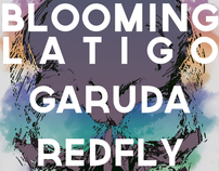 Blooming Latigo - Garuda - Red Fly / Concert Poster