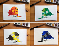Hogwarts House Pride Birds