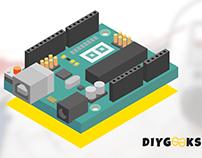Auduino Board Isometric Design for DIY Geeks