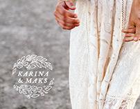 Karina & Maks Photography Logo Design