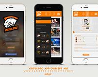 Virtus Pro App - Concept Art
