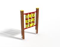Playground Tic Tac Toe Wooden - kółko i krzyżyk Drewno
