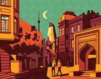 Baku magazine illustrations