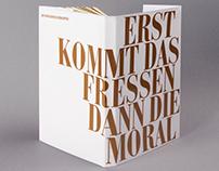 Inszenierte Typografie - Dreigroschenoper