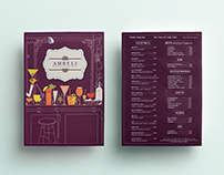Menu Design - Amreli Kitchen & Cocktails