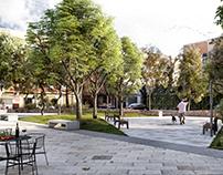 Visualization of the park in Paterna, Valencia