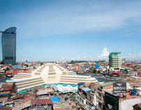 The Central Market In Phnom Penh
