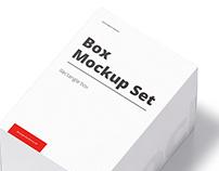 Box Mockup Set 01: Rectangle