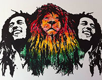 Rasta Bedroom Mural