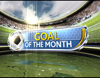 Goal of the Month football