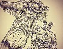 Calvin & Hobbes Zombies