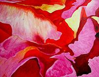 Rose Corolla (acrylics)