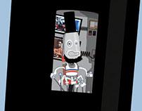 Skateboard: Robot controlled Robot Abraham Lincoln