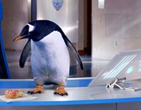 Penguin/Video Screens Composite