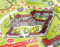 Illustrated Tourist Map of Zirc, Hungary