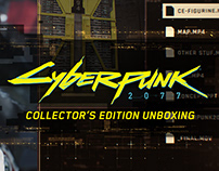 Cyberpunk2077 CE Unboxing