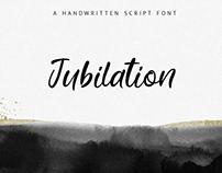 Jubilation. Handwritten Font