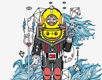 Scubadiver / Illustration
