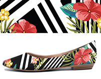 Flat shoes prints