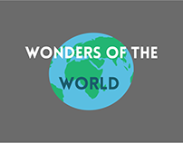 Wonders Of the World Motion Graphic