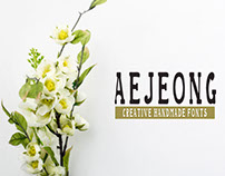 Aejeong Free Hand Made Font