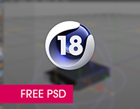 Free Cinema 4D version icon PSD