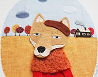 The autumn textile illustrations