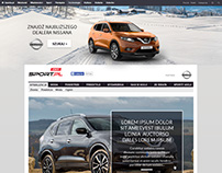 Nissan page layout