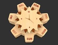 Interactive Calendar cum Clock