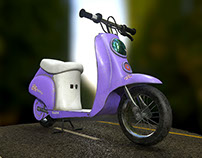 Scooter (low poly)