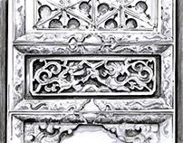 Qing Dynasty Door Panel