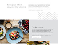 Restaurant Home Page Design