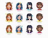 Rediseño de personajes Nosotras Girls / 2014 - 2016