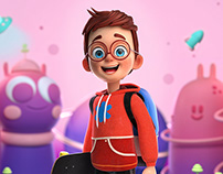 Smarty Kids 3d Character