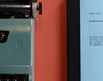 Agenda 2018 Typewriter Olivetti Lettera 32