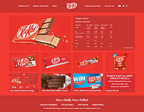 Nestlé KitKat Website Re-design | Ryan Allen