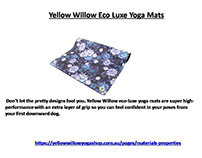 Yellow Willow Eco Luxe Yoga Mats